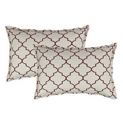 Reversible Boudoir Decorative Cotton Lumbar Pillow Color: Ruby Red