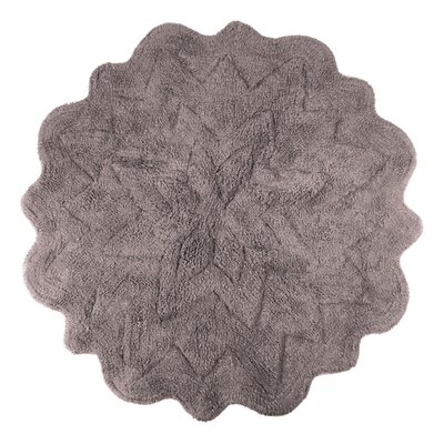 Over Tufted Petals Bath Rug Color: Mink