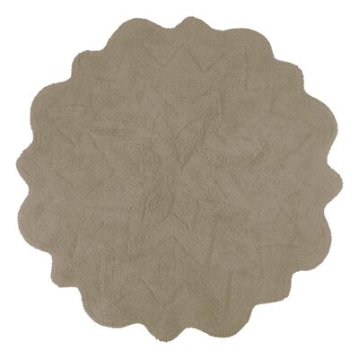 Over Tufted Petals Bath Rug Color: Taupe