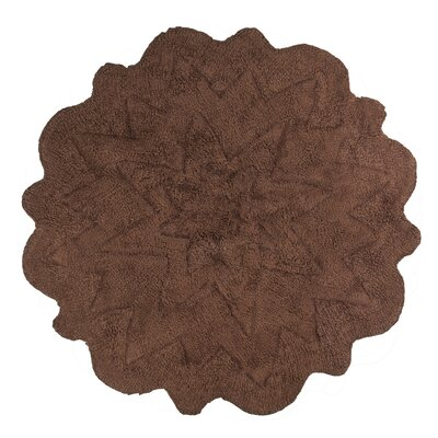 Over Tufted Petals Bath Rug Color: Brown