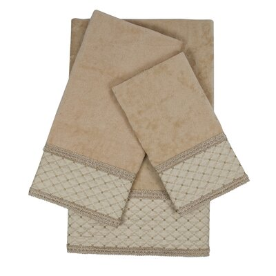 Kinzie Gimp 3 Piece Towel Set