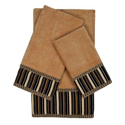 Crandon Stripes 3 Piece Towel Set Color: Beige