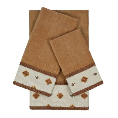 Halifax 3 Piece Towel Set Color: Beige