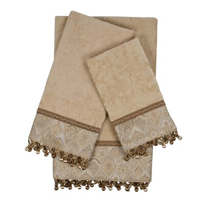 Mandalay 3 Piece Towel Set Color: Taupe