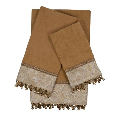 Mandalay 3 Piece Towel Set Color: Beige