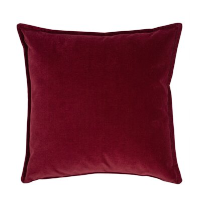 Valerie Velvet Decorative Throw Pillow Color: Red