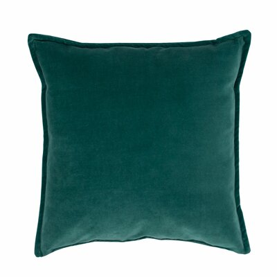 Valerie Velvet Decorative Throw Pillow Color: Green