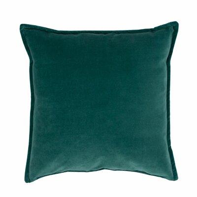 Valerie Velvet Decorative Throw Pillow Color: Green
