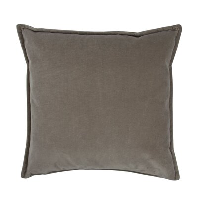 Valerie Velvet Decorative Throw Pillow Color: Gray