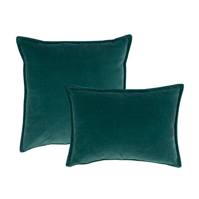 Valerie Combo Decorative 2 Piece Pillow Set Color: Green