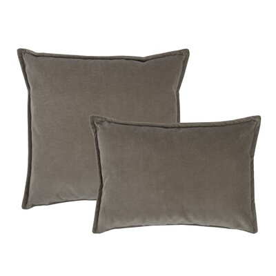 Valerie Combo Decorative 2 Piece Pillow Set Color: Gray