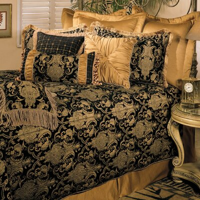 China Art 5 Piece Comforter Set Size: California King, Color: Black