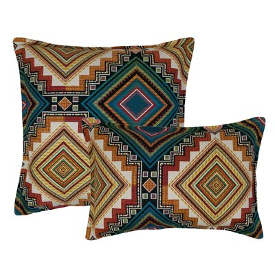 Aliso Creek 2 Piece Combo Pillow Set Color: Emerald
