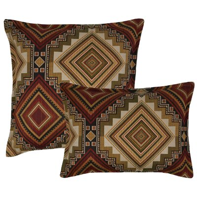 Aliso Creek 2 Piece Combo Pillow Set Color: Garnet
