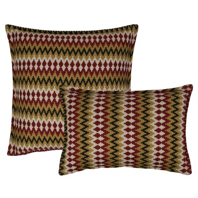 Springlake 2 Piece Combo Pillow Set Color: Red
