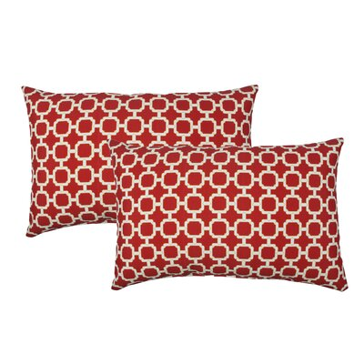Hockley Outdoor Boudoir Pillow Color: Red