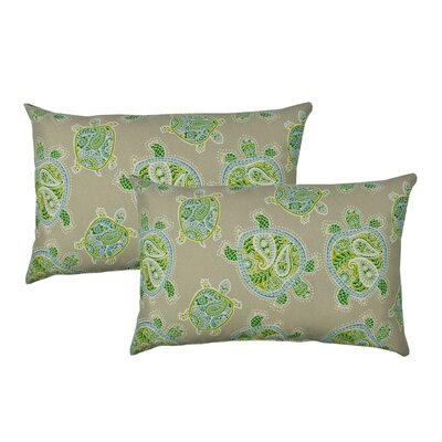 Sea Turtles Outdoor Boudoir Pillow Color: Green Taupe