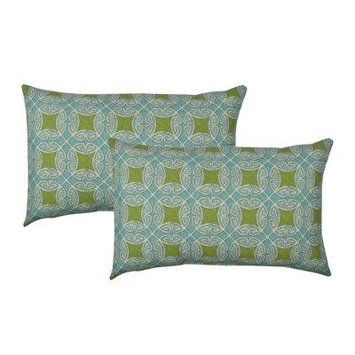 Circle Time Blue Outdoor Boudoir Pillow Color: Blue/Green