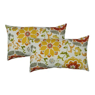 Flower Power Outdoor Boudoir Pillow Color: Orange