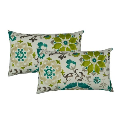 Flower Power Outdoor Boudoir Pillow Color: Teal