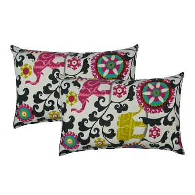 Elephant Parade Outdoor Boudoir Pillow Color: Black