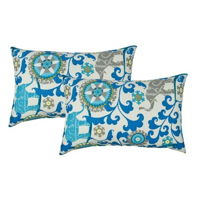 Elephant Parade Outdoor Boudoir Pillow Color: Blue