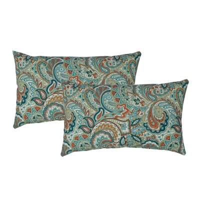 Paisley Outdoor Boudoir Pillow