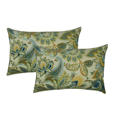 Spring Leaves Outdoor Lumbar Pillow