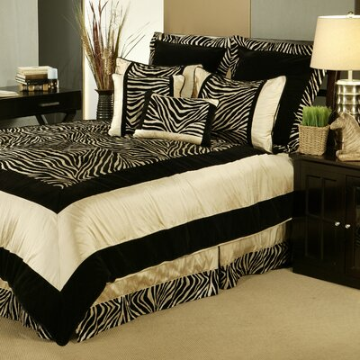 Zuma 7 Piece Comforter Set Size: Queen
