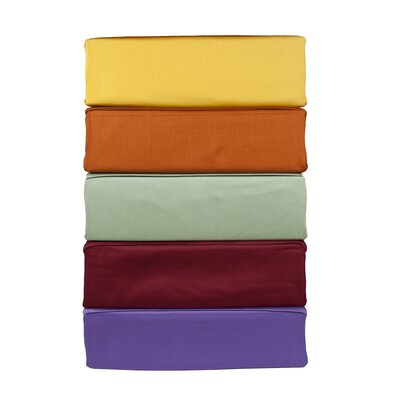 Mohan 300 Thread Count 100% Cotton Sheet Set Color: Burgundy, Size: Full/double