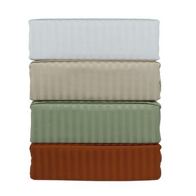 Mohan 300 Thread Count 100% Cotton Sheet Set Color: Rust, Size: Queen