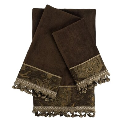 Decorative Embellished 3 Piece Towel Set