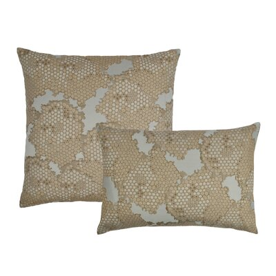 2 Piece Decorative Pillow Set Color: Gold