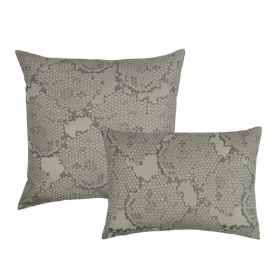 2 Piece Decorative Pillow Set Color: Gray