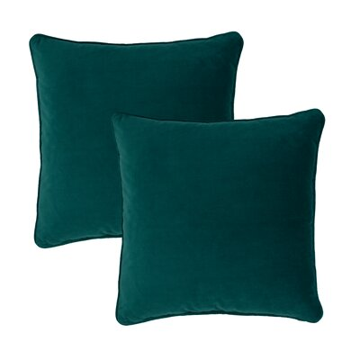 Glendon Velvet Throw Pillow Color: Teal