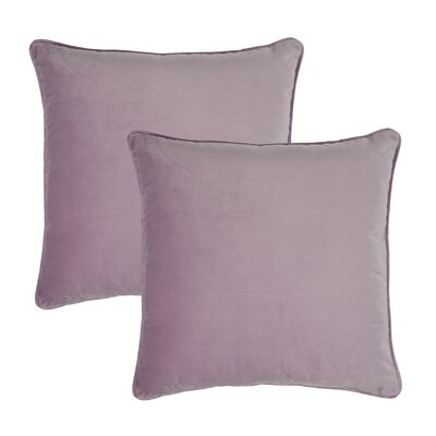 Glendon Velvet Throw Pillow Color: Lavender