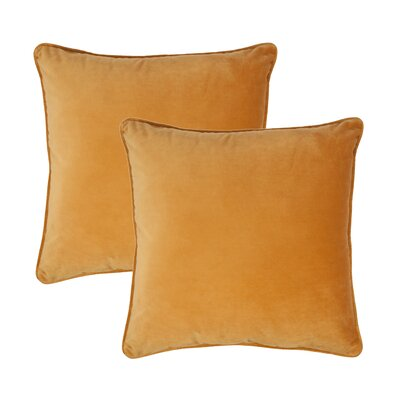 Glendon Velvet Throw Pillow Color: Spruce Yellow