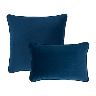 Glendon 2 Piece Velvet Throw Pillow Set Color: Spruce Blue