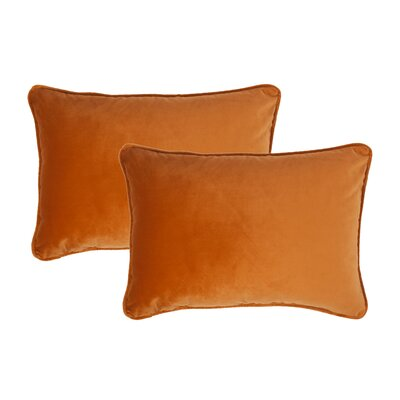 Glendon Velvet Boudoir Pillow Color: Inka Gold