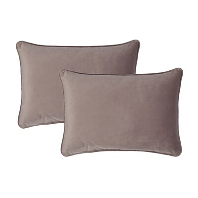 Glendon Velvet Boudoir Pillow Color: Rose