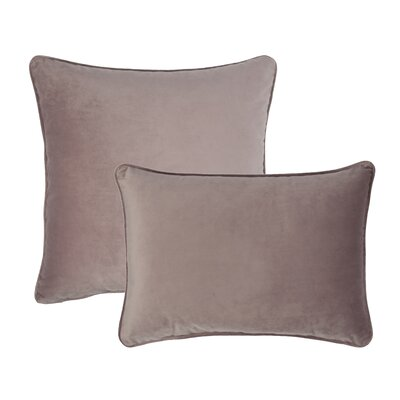 Glendon 2 Piece Velvet Throw Pillow Set Color: Rose