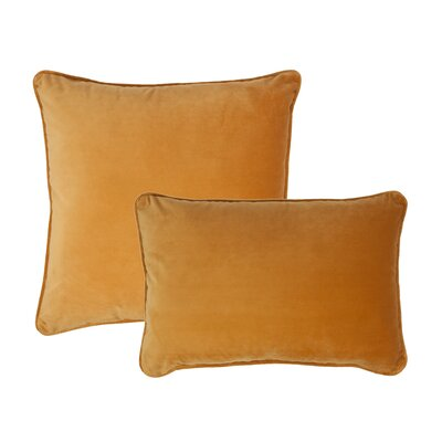 Glendon 2 Piece Velvet Throw Pillow Set Color: Spruce Yellow