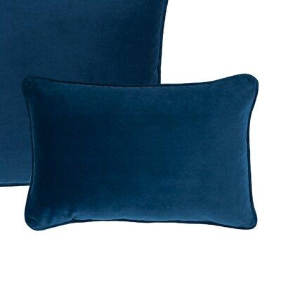 Glendon Velvet Boudoir Pillow Color: Spruce Blue