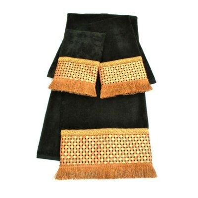 Chenille Decorative 3 Piece Towel Set
