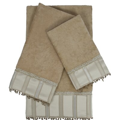Cromwell Embellished 3 Piece Towel Set