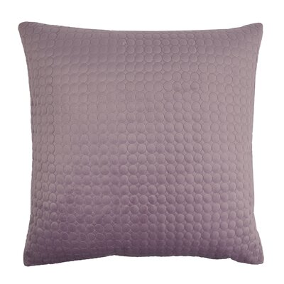 Embroidered Circle Velvet Throw Pillow Color: Lavender