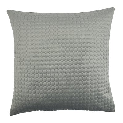 Embroidered Circle Velvet Throw Pillow Color: Silver Gray