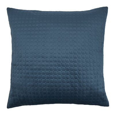Embroidered Circle Velvet Throw Pillow Color: Indigo Blue