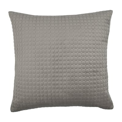 Embroidered Circle Velvet Throw Pillow Color: Taupe Gray