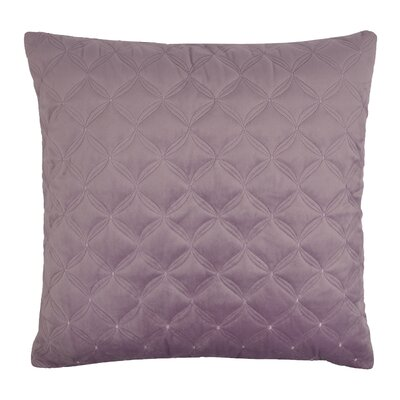 Embroidered Diamond Velvet Throw Pillow Color: Lavender